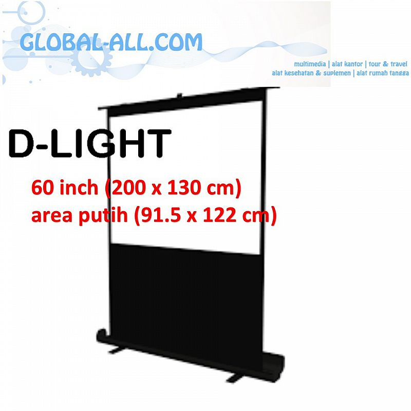 SCREEN PROYEKTOR PORTABLE D-LIGHT PSDL60 - 60 INCH